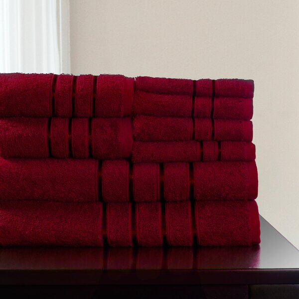 8 Piece 100% Cotton Towel Set by Plymouth Home